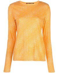 Proenza Schouler T-shirt a maniche lunghe - Arancione