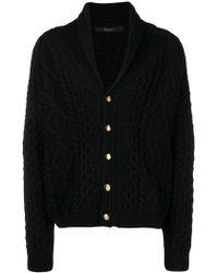 Billionaire - Cable Knit Cardigan - Lyst