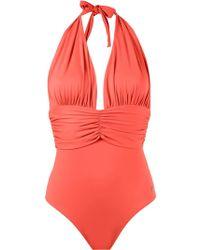 Brigitte Bardot - Deep V-neck Swimsuit - Lyst