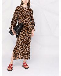 Parlor Leopard-print Shift Dress - Brown