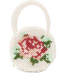 Shrimps Rosa Round Faux-pearl Bag - White