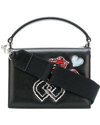 DSquared² Embellished Dd Mini Shoulder Bag - Black