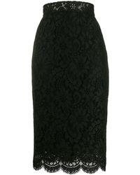 Dolce & Gabbana - Falda de tubo de encaje - Lyst