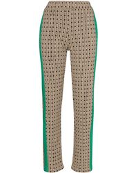 Wales Bonner Geometric-print Straight-leg Trousers - Multicolour