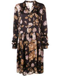 Junya Watanabe - Floral Oversized Shirt Dress - Lyst