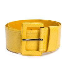 Lyst - Cinturón con hebilla Carolina Herrera de color Amarillo f9d853609c3a