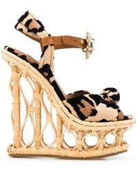 Dolce & Gabbana ビジュー ウェッジサンダル - マルチカラー