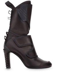 Fendi ミッドカーフブーツ - ブラック