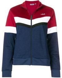 Fila - Colour-block Zipped Sweatshirt - Lyst