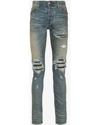 Amiri 'MX1' Jeans in Distressed-Optik - Blau