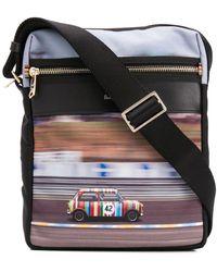 Paul Smith Car Print Messenger Bag - Black