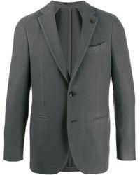 Lardini シングルジャケット - グレー