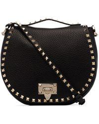 Valentino - Garavani Rockstud Leather Shoulder Bag - Lyst