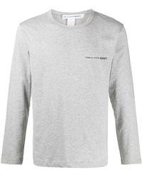 Comme des Garçons - ロゴ ロングtシャツ - Lyst