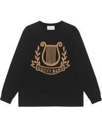 Gucci リラ パッチ オーバーサイズ ロングtシャツ - ブラック