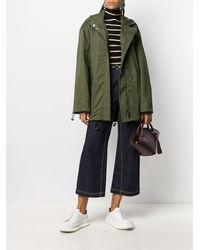 Loewe Пальто На Молнии С Капюшоном - Зеленый