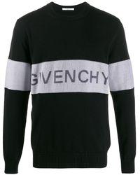 Givenchy Trui Met Logostreep - Zwart