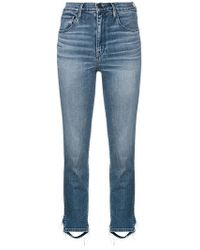 3x1 - Cropped High Waisted Jeans - Lyst