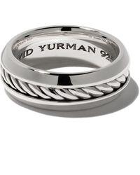 David Yurman Cable Classic Band Ring - Metallic