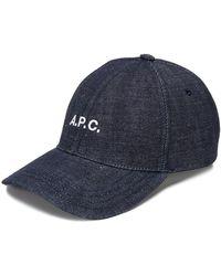 A.P.C. - デニム キャップ - Lyst
