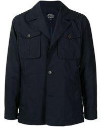 MAN ON THE BOON. リネン シャツジャケット - ブルー