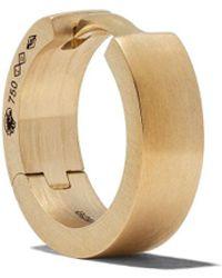 Le Gramme 18kt Brushed Yellow Gold 25/10g Ribbon Earring - Metallic