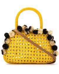Serpui - Embellished Straw Bag - Lyst
