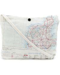 Raeburn Maps シルク ショルダーバッグ S - ホワイト