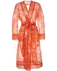 Marina Moscone Sheer Jacket - Orange