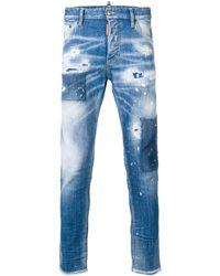 DSquared² Gescheurde Skinny Dan Jeans - Blauw