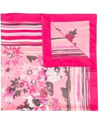 Liu Jo フローラル スカーフ - ピンク