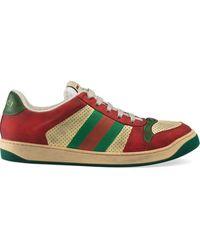 Gucci - Screener Sneakers Van Leer - Lyst