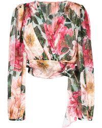 Dolce & Gabbana フローラル ブラウス - ピンク