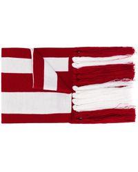 Gcds フリンジ ロゴ スカーフ - ホワイト