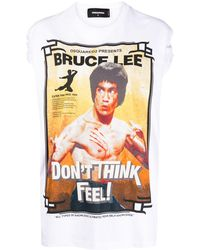 DSquared² Bruce Lee Tシャツ - ホワイト