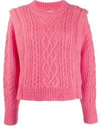 Étoile Isabel Marant Cable Knit Sweater - Pink