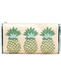 Edie Parker - Pineapples Embroidery Clutch - Lyst
