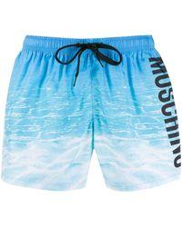 Moschino Bañador con logo estampado - Azul