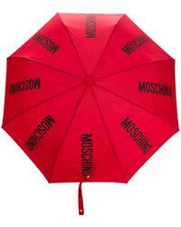 Moschino Paraplu Met Logoprint - Rood