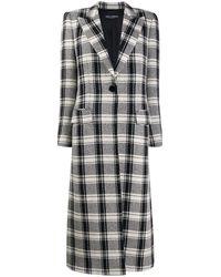 Dolce & Gabbana Пальто В Клетку - Черный