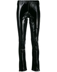 P.A.R.O.S.H. Black Leather LEGGINGS
