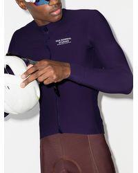 Pas Normal Studios Logo -print Long-sleeve Zip-up Top - Purple