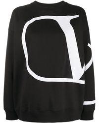 Valentino Vロゴ スウェットシャツ - ブラック