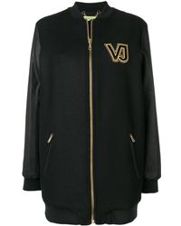 Versace Jeans Couture コントラストロゴ コート - ブラック