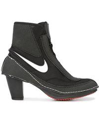 Nike X Comme De Garçons Block Heel Boots - Black