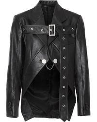 Burberry Байкерская Куртка С Поясом - Черный