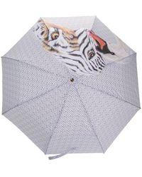 Burberry Paraplu Met Monogramprint - Wit