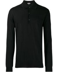 Lanvin Fijngebreid Poloshirt - Zwart