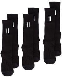 Boris Bidjan Saberi 11 Ribbed Logo Socks - ブラック