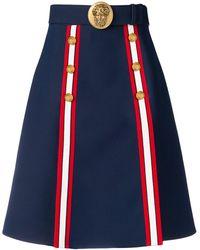 Gucci Aライン スカート - ブルー